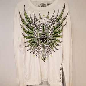 Affliction Live Fast Mens Long Sleeve Shirt